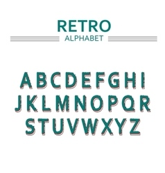 Alphabet with letters hand drawn font vector