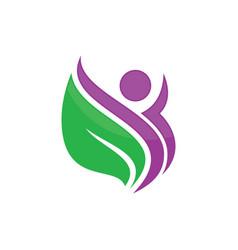 beauty green leaf spa salon logo image vector image vector image