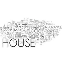 before you buy a house top tips text word cloud vector image vector image