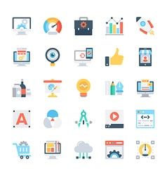 Design and development colored icons 2 vector