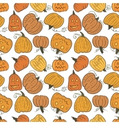 Funny pumpkin pattern vector