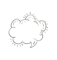 Gray hand drawn speech in shape of cloud vector