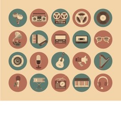 Icons musical instruments vector image vector image