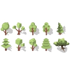 isometric forest ements vector image vector image