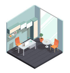 Isometric office interior vector