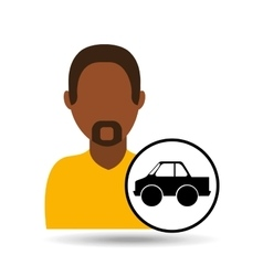 Man icon pick up truck design vector