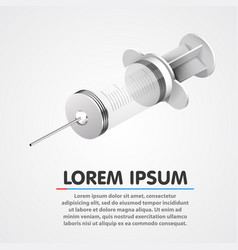 Medical empty and clean syringe clean vector