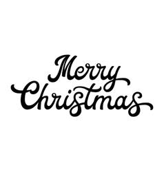 Merry Christmas brush lettering vector image