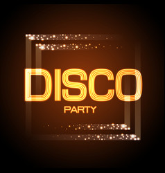 Neon sign disco party vector