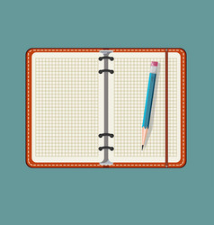 notebook and pencil isolated on a background vector image