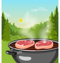 Outdoor Barbecue Concept vector image vector image