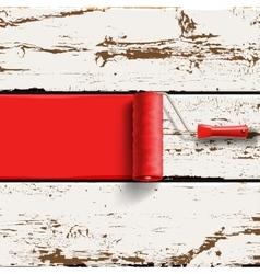 Red roller brush vector