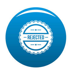 Rejected logo simple style vector