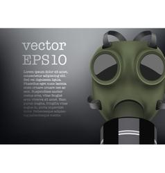 Retro gas mask vector image vector image