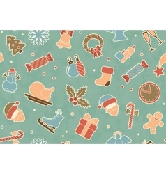 Seamless Christmas background vector image
