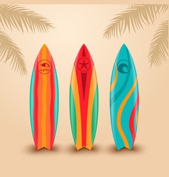 Surf boards with different design vector image vector image