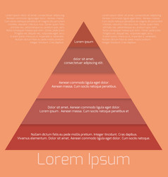template pyramid needs a place for text for your vector image