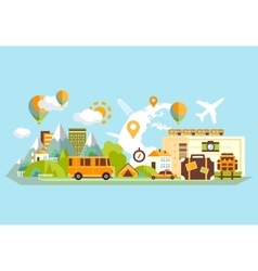 Travel Banner Flat vector image vector image