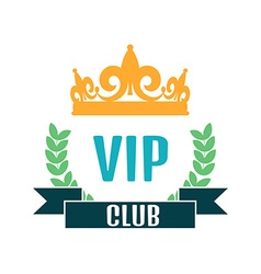 VIP club logo in flat style vector image vector image