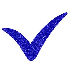 yes icon grunge watermark vector image