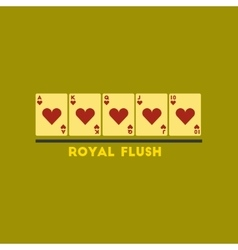 Flat icon on stylish background royal flush vector