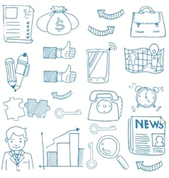 Doodle of business stock collection vector