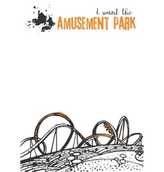 Roller coaster on a white background vector