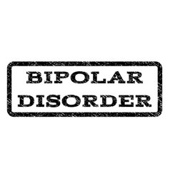 Bipolar disorder watermark stamp vector