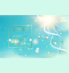 scince of a dna molecule vector image