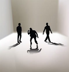 3 men silhouettes vector