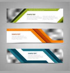 Collection banners with abstract colored stripes vector