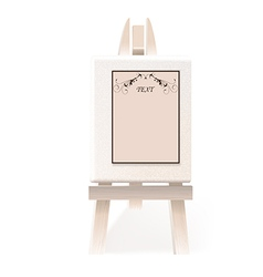 easel paper vector image