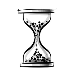 Sand glass clock vector