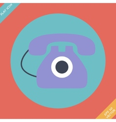 Old phone icon - vector