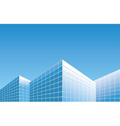 Light blue buildings on skyline - background vector