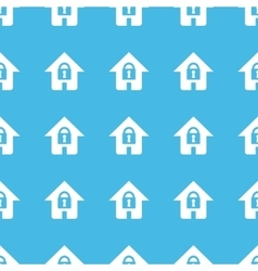 Locked house straight pattern vector