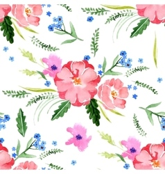 Watercolor floral seamless vector