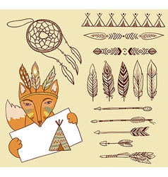 Arrows indian elements aztec borders and vector