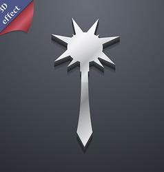 Mace icon symbol 3d style trendy modern design vector