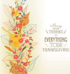 Happy thanksgiving autumn background with leaves vector