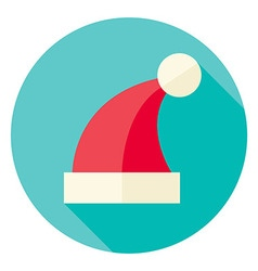 Flat design christmas santa hat circle icon vector