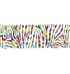 Background with colorful zebra skin vector