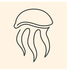 Jellyfish one line vector