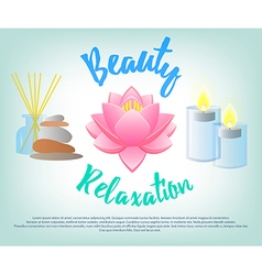 Beauty salon facials beauty relaxation aromatherap vector