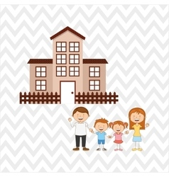 Silhouette family design vector