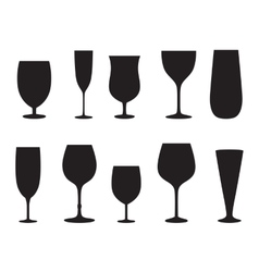 Glass set or collection vector