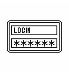 Login and password icon outline style vector