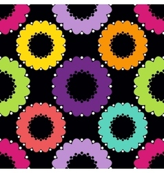 Abstract circle pattern dark vector