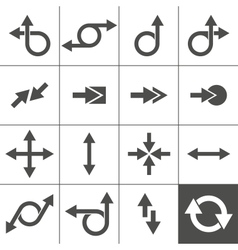 Arrow sign set vector