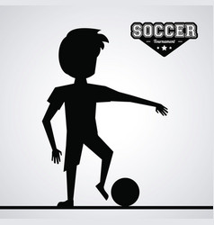 black silhouette faceless athlete football player vector image vector image